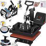 VEVOR Heat Press 12X10 Inch Heat Press Machine 5 in 1 Digital Transfer