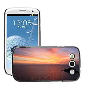 Super Stella Slim PC Hard Case Cover Skin Armor Shell Protection // M00421376 Sunset Dusk Sunrise Dawn Sky Orange // Samsung Galaxy S3 S III SIII i9300
