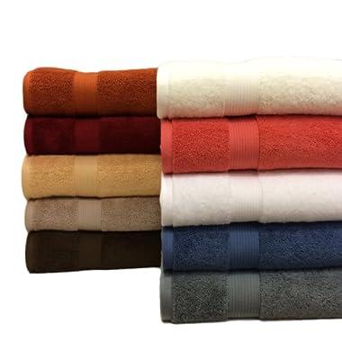 2 Cotton Plush Bath Sheets, Gray, Over 1.8lbs. Each