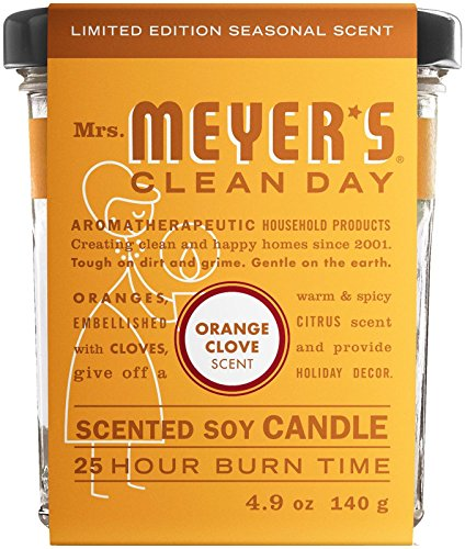 (Mrs. Meyer's Clean Day Soy Candle - Orange Clove - 4.9 oz)
