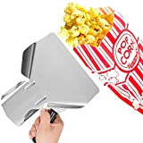 Carnival King Paper Popcorn Bags For Party (pack of 200, 1 oz) w/ Stainless Steel Popcorn Scoop - Popcorn Supplies Bundle - Popcorn/French Fries Scooper, Popcorn Bags, Complimentary Coasters, Ebook