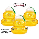 Outward Creations 3 Pack Wasp Trap with no Seam on The Bottom - Eliminate Leaks