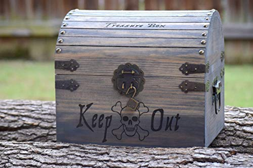 Treasure Pine Chest - Kids Toy Chest - Kids Treasure Chest - Personalized Gift for Kids - Children's Treasure Chest - Gift for Kids - Pirate Treasure Chest - Kids Christmas Gifts