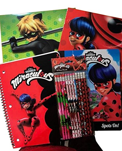 School Supplies for Elementary featuring Miraculous Folders, Writing Tablet, Pencils by School Supplies (Image #5)