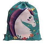 Unicorn Packable Cinch Bag Expandable Multi Purpose Drawstring Backpack
