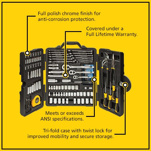 Stanley STMT81031 Mixed Tool Set (170 Piece)