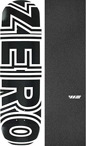集団入射昼食ゼロスケートボードボールドブラック/ホワイトスケートボードデッキ – 8.75