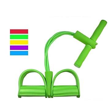 4 Tubo de Fitness Cuerda Elástica Tirar del pie Pedal Cuerpo ...