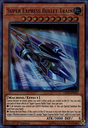 Super Train Express - Yu-Gi-Oh! - Super Express Bullet Train - LED4-EN035 - Legendary Duelists: Sisters of The Rose - 1st Edition - Ultra Rare