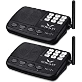 Wireless Intercom System Hosmart 1/2 Mile LONG RANGE 7-Channel Security Wireless Intercom System for Home or Office (2017 New Version)[2 Stations Black]