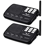Wireless Intercom System Hosmart 1/2 Mile Long Range 7-Channel Security Wireless Intercom System Home Office (2018 New Version)[2 Stations Black]