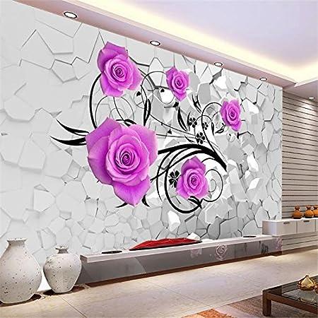Lqwx Senior Wallpaper 3d Romantic Floral Space Bedroom Living Room