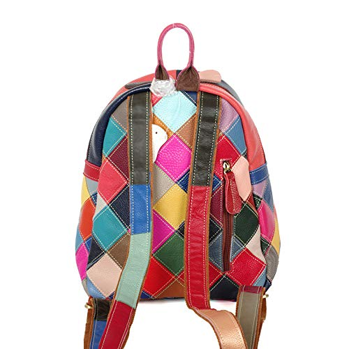 Acolchado Bolsos Moda Mochila Hombro Dama La Costura En Color Laidaye De Cuero Bolso Bqgd77w