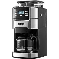 THERMOS 膳魔师  咖啡机EHA-3422E全自动美式滴漏家用办公室豆粉两用(亚马逊自营商品, 由供应商配送)