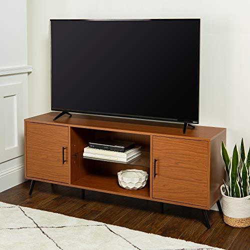 WE Furniture AZ60NOR2DPC TV Stand, 60 , Acorn