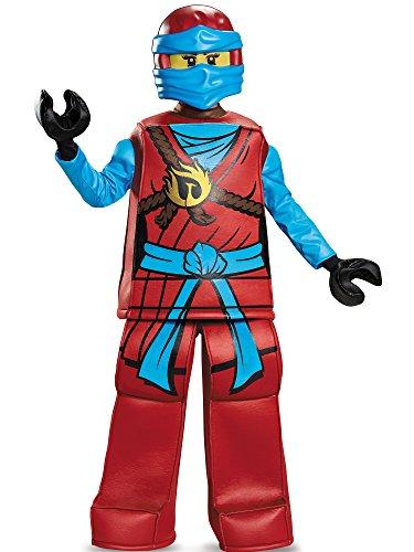 NYA Prestige Ninjago Lego Costume, Medium/7-8 -