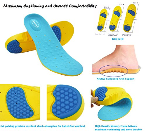 Happystep-full-length-Memory-Foam-Gel-Insoles-provide-cushioned-arch-support-and-excellent-shock-absorption-with-gel-pads-under-the-heel-and-forefoot-1-Pair