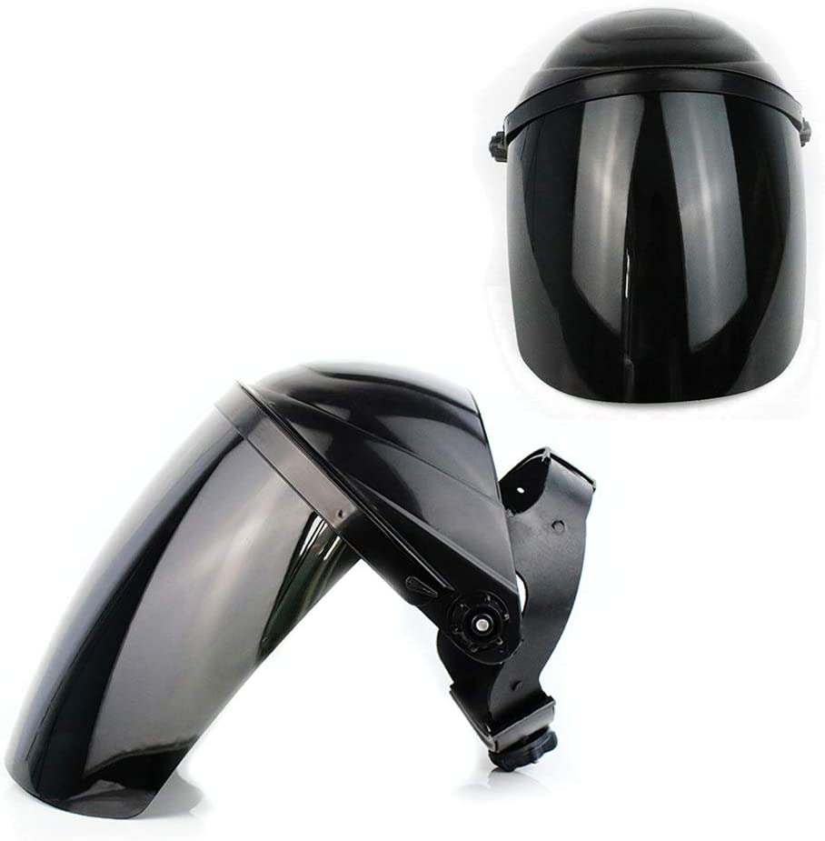 ZXYMUU 2 Piezas Protector Facial, Lavables Antivaho Antirayos UV, Antigolpes Face Shield, Esponja Cómoda Visera para Boca Y Nariz con Sonrisa Visible,Black Black Lens