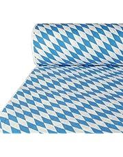 """Papstar Papiertischtuch / Tischtuchrolle mit Damastprägung """"Bayerisch Blau"""" (1 Stück) 50 x 1 m, für Haushalt, Gastronomie oder Festlichkeiten, beliebig zuschneidbar, #12544"""