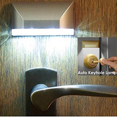 Light Seller® Infrared Detector Automatic On/Off LED Night Light for Key Hole/Door Lock (FYD-L0403)