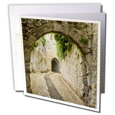 3dRose Danita Delimont - Roads - France, Provence. Ancient walkways in the village of Vaison du Romain. - 6 Greeting Cards with envelopes ()