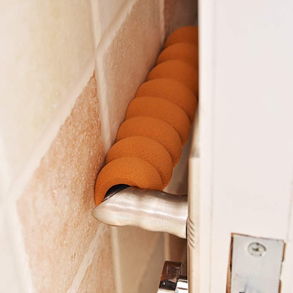 Log-Cabin 10er Pack T/ürgriffschutz f/ür Baby Sicherheit T/ürknauf Schutzh/üllen Weichschaum Anti-Kollision Bunte Wandknauf Schutz