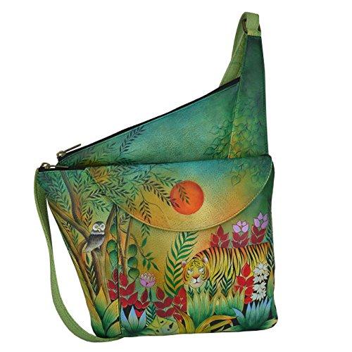 Ano Chka Pelle Dipinto a mano elegante borsa a mano donna–�?52Rousseau S Jungle, regalo per la madre giorni, Borsa a tracolla