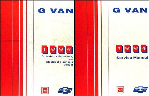 1994 Chevy Full Size G-Van GMC Vandura Rally Wagon Repair Shop Manual Set