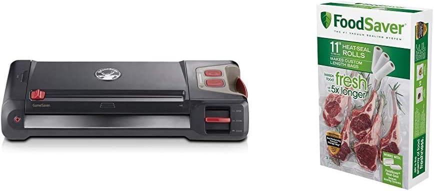 FoodSaver Vacuum Sealer GM710-000 GameSaver Big Game Sealing System, reg, Black & 11