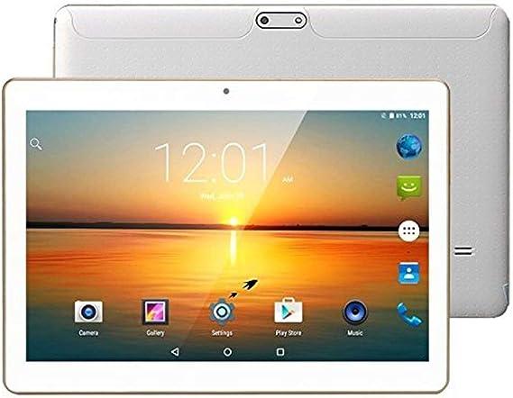 Dieniu Unlocked Pad Tableta Android Octa Core 3G de 10 Pulgadas con Doble Ranura para Tarjetas SIM 2GB RAM 32GB ROM WiFi Incorporado Bluetooth GPS Netflix Youtube (Blanco): Amazon.es: Informática