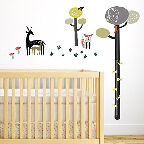 Wee Gallery Removable Growth Chart, Height Measurement and Nursery Wall Decor, Quiet Forest (Wee Gallery Art)