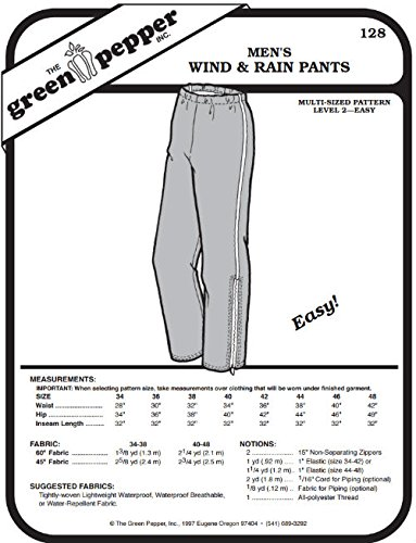 Amazon Men's Wind And Rain Pants 60 Sewing Pattern Pattern Adorable Pants Sewing Pattern