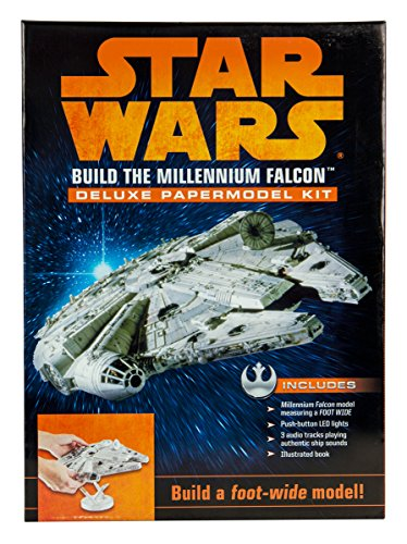 Build Your Own 3D Paper Figure from Star Wars - DIY Construction Kit for All Ages (Millennium Falcon)