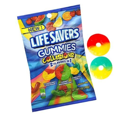 Life Savers Collision Gummies Candy Bag, 7 ounce (4 Packs)