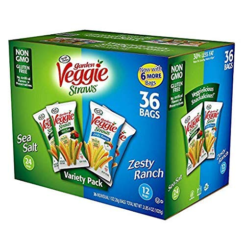 Sensible Portions Garden Veggie Straws 1oz Variety 36 Count (3 Packs) by Sensible Portions