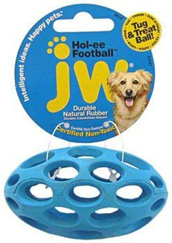 JW Pet Company Mini Hol-ee Football Dog Toy, Colors Vary by