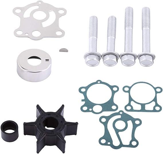 Akozon Wasserpumpe Kit Wasserpumpenreparatur Takt Außenbordmotoren Umbau Laufradsatz Für Yamaha 40 50 Ps Außenborder 1984 1994 6h4 W0078 00 00 Auto