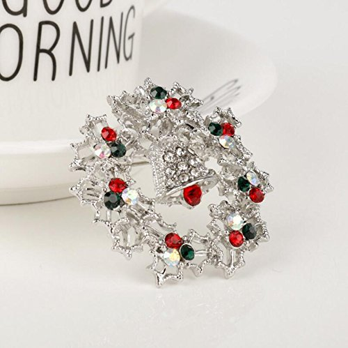 Yudanwin Frauen 'S Christmas Glocken Strass Brosche Pin Jewelry pin-1pc