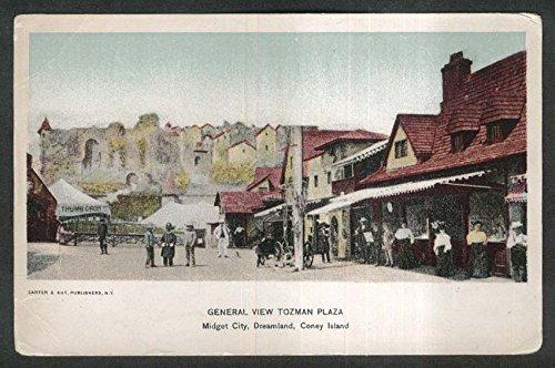 Coney Island Dreamland (Tozman Plaza Midget City Dreamland Coney Island NY undivided back postcard 1900s)