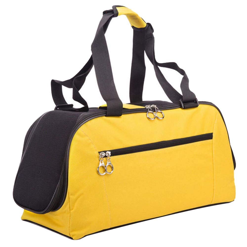 18.8x10x8.6 in NIANXINAN Lightweight Fabric Pet Bag Portable Dog Carrier Folding Pet Cage