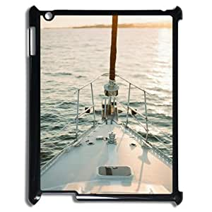 Custom Cover Case with Hard Shell Protection for Ipad2,3,4 case with Beautiful Sailboat Rudders lxa#402498