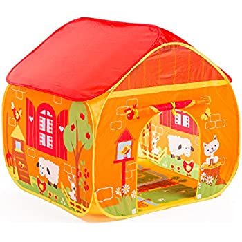 Pop-it-up Farm Play Tent with Playmat.red