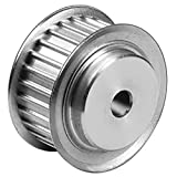 Ametric® 3M22X15 Aluminum HTD Timing Pulley with Flange, 3 mm Pitch, 22 Teeth, for 15 mm wide belt, 6 mm +/-1mm Pilot Bore, 21.01 mm Pitch Dia., 20.25 mm OD, 14 mm Hub Dia., 19.5 mm Face Width, 26 mm Overall Width, 6F/A , (1-080)