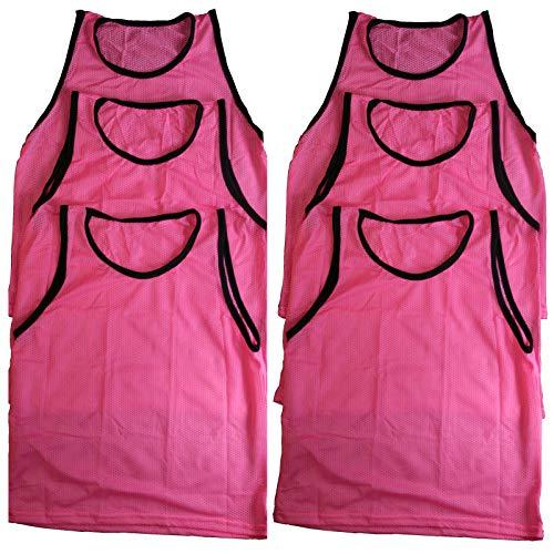 (Lotus energy Set of 6 Scrimmage Vests PINNIES Soccer Field Hockey Practice Uniform Adult)