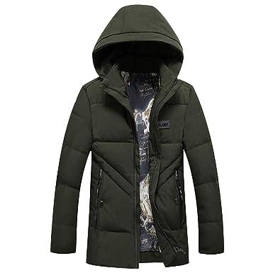 e63be7cf0 Amazon.com: G-real Men's Winter Snow Puffer Coats Faux Fur Hooded ...