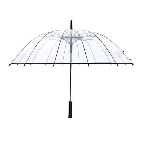 Paraguas Transparente Paraguas Largo Mango Personalidad Estudiante Paraguas Paraguas automático Refuerzo japonés pequeño Fresco (Color