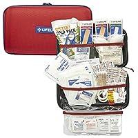 Kit de emergencia de primeros auxilios Lifeline de 121 piezas - Tamaño pequeño y compacto - Ideal para campamentos, eventos deportivos, caminatas, ciclismo, automóviles, así como para el hogar, la escuela y la oficina