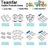 """TeamFar Kids Plates, 7.3""""×5.3""""×0.8"""", Stainless"""