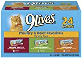 9Lives Poultry and Beef Variety Pack, 24-Count, My Pet Supplies