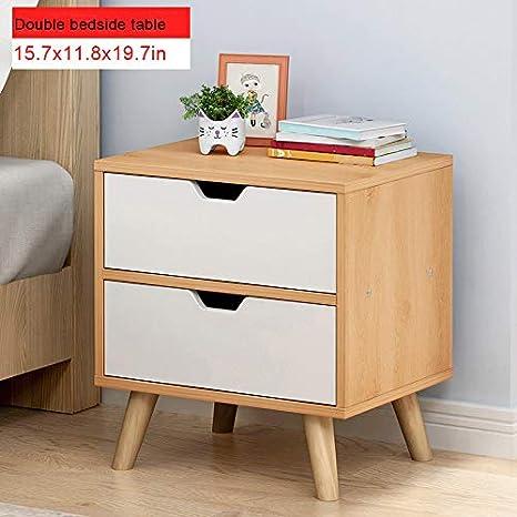 Amazon.com: Sodoop Bedside Table Nightstand with Double ...